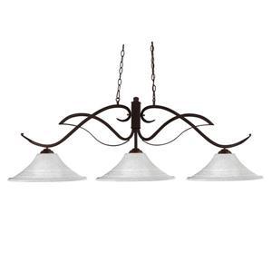 Z-Lite Phoenix Nautical 3-Light Kitchen Island Light - Bronze