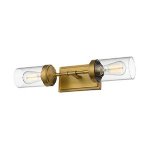 Z-Lite Calliope 2-Light Wall Sconce - Brass