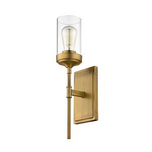 Z-Lite Calliope 1-Light Wall Sconce - Brass