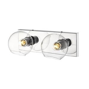 Z-Lite Marquee 2-Light Wall Sconce - Chrome