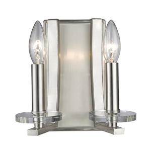 Z-Lite Verona 2-Light Wall Sconce - Brushed Nickel