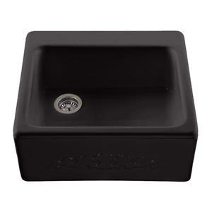 Reliance Hatfield Single Sink - 22.25-in x 9.25-in - 3 Holes - Black