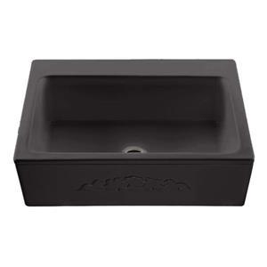 Reliance McCoy Single Sink - 22.25-in x 9.25-in - 2 Holes - Black