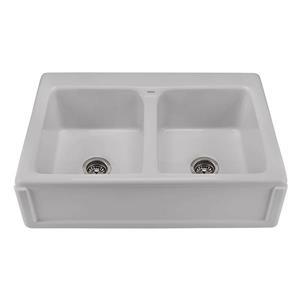 Reliance Appalachian Double Sink - 22.25-in x 8-in - 3 Holes - Silver