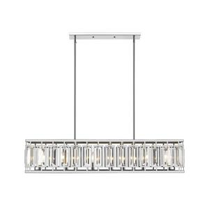 Z-Lite Mersesse 7-Light Pendant - 8.5-in - Crystal - Chrome