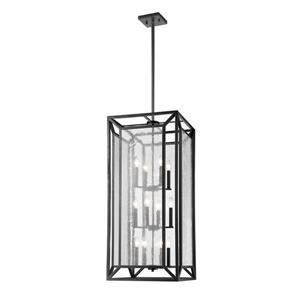 Z-Lite Braum 12-Light Pendant - 17.5-in - Glass - Bronze