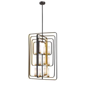 Z-Lite Aideen 12-Light Pendant - 24.25-in - Glass - Gold