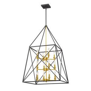 Z-Lite Tressle 12-Light Pendant - 24-in - Metal - Gold
