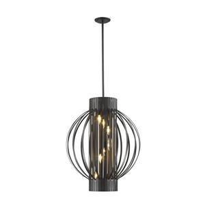 Z-Lite Moundou 8-Light Pendant - 24-in - Metal - Bronze
