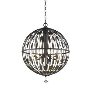 Z-Lite Almet 8-Light Pendant - 30.25-in - Metal - Bronze