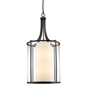 Z-Lite Willow 12-Light Pendant - 18-in - Glass - Bronze