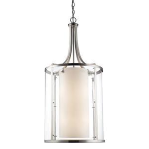 Z-Lite Willow 12-Light Pendant - 18-in - Glass - Nickel