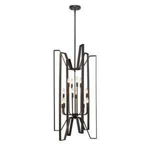 Z-Lite Marsala 12-Light Pendant - 22-in - Metal - Bronze