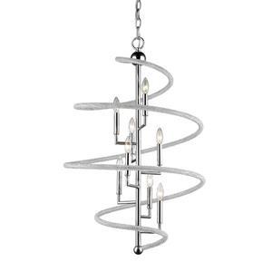 Z-Lite Czarina 8-Light Pendant - 26-in - Crystal - Chrome