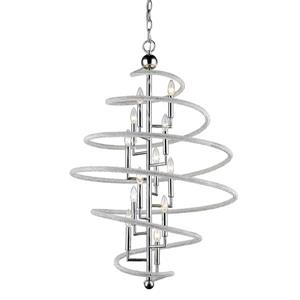 Z-Lite Czarina 12-Light Pendant - 30-in - Crystal - Chrome