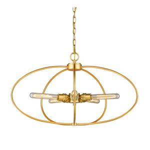 Z-Lite Persis 5-Light Pendant - 28.25-in - Metal - Gold