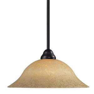 Z-Lite Cobra 1-Light Pendant - 16-in - Glass - Bronze