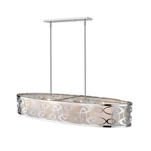 Z-Lite Opal 8-Light Pendant - 20-in - Fabric - White