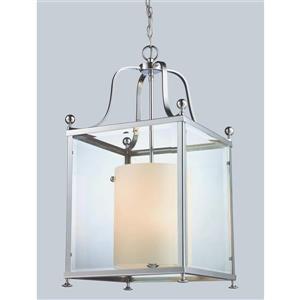 Z-Lite Fairview 6-Light Pendant - 15.5-in - Glass - Chrome