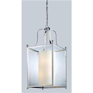 Z-Lite Fairview 8-Light Pendant - 18.5-in - Glass - Chrome