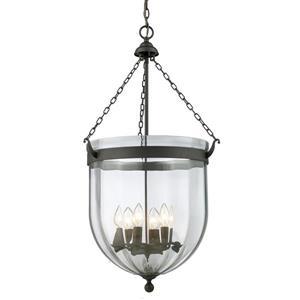 Z-Lite Warwick 6-Light Pendant - 17.75-in - Glass - Bronze