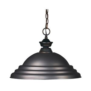 Z-Lite Riviera 1-Light Pendant - 16-in - Metal - Bronze