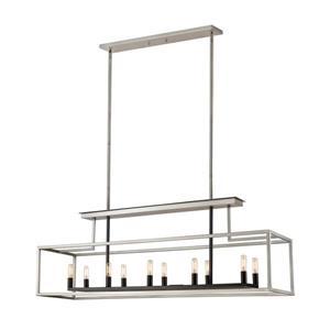 Z-Lite Quadra 10-Light Billard Light - 50-in - Nickel/Black