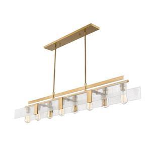 Z-Lite Gantt 8-Light Billard Light - 58.88-in - Brass