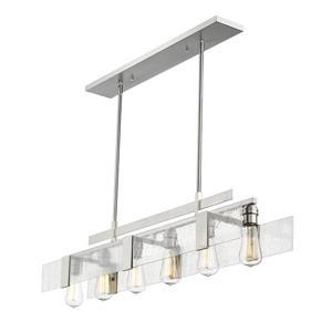 Z-Lite Gantt 6-Light Billard Light - 41.5-in - Nickel