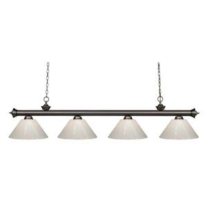 Z-Lite Riviera 4-Light Billard Light - 80-in - White