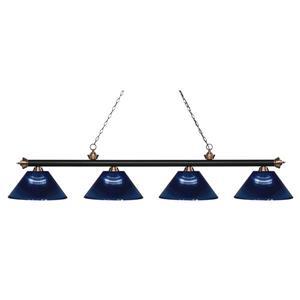 Z-Lite Riviera 4-Light Billard Light - 80.75-in - Blue
