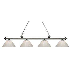 Z-Lite Riviera 4-Light Billard Light - 80.5-in - Bronze