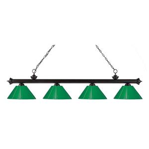 Z-Lite Riviera 4-Light Billard Light - 80-in - Green