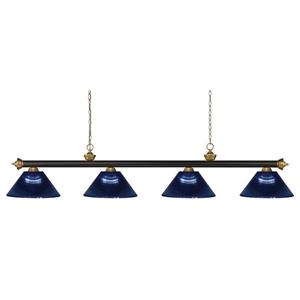 Z-Lite Riviera 4-Light Billard Light - 80-in - Dark Blue