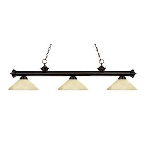 Z-Lite Riviera 3-Light Billard Light - 57-in - Off-White