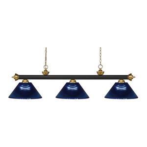 Z-Lite Riviera 3-Light Billard Light - 57-in - Dark Blue