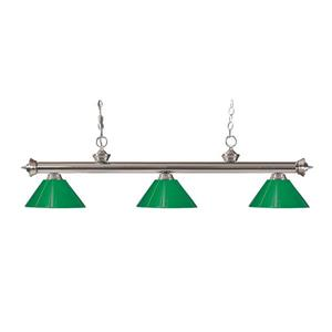 Z-Lite Riviera 3-Light Billard Light - 57-in - Green