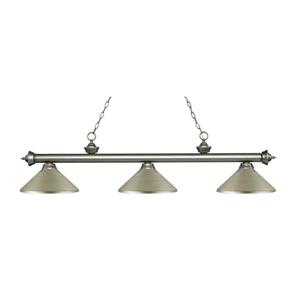Z-Lite Riviera 3-Light Billard Light - 57.25-in - Silver