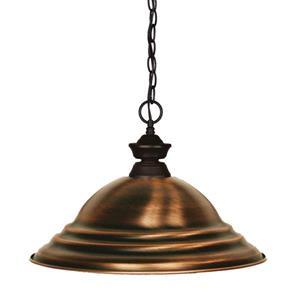 Z-Lite Shark 1-Light Pendant - 15.75-in - Metal - Copper