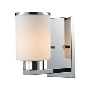 Z-Lite Roxburgh 1-Light Wall Sconce - 8-in - Steel - Chrome