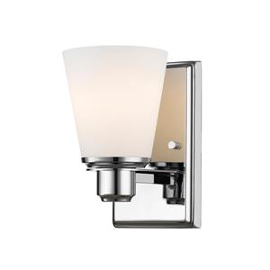Z-Lite Kayla 1-Light Wall Sconce - 8.5-in - Steel - Chrome
