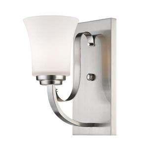 Z-Lite Halliwell 1-Light Wall Sconce - 11-in - Steel - Nickel