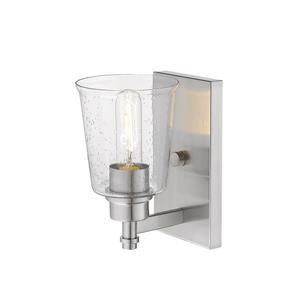 Z-Lite Bohin 1-Light Wall Sconce - 8.5-in - Steel - Nickel