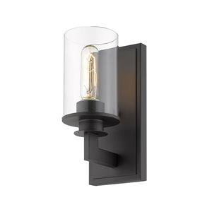 Z-Lite Savannah 1-Light Wall Sconce - 10.25-in - Steel - Bronze
