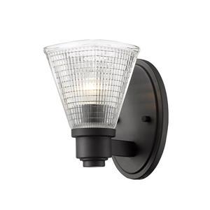 Z-Lite Intrepid 1-Light Wall Sconce - 8.5-in - Steel - Bronze