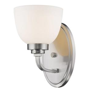 Z-Lite Ashton 1-Light Wall Sconce - 8-in - Steel - Nickel