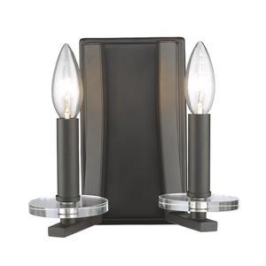 Z-Lite Verona 2-Light Wall Sconce - 8-in - Steel - Bronze