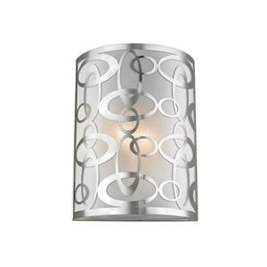 Z-Lite Opal 2-Light Wall Sconce - 12-in - Steel - Nickel