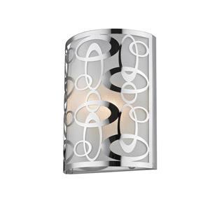 Z-Lite Opal 2-Light Wall Sconce - 12-in - Steel - Chrome