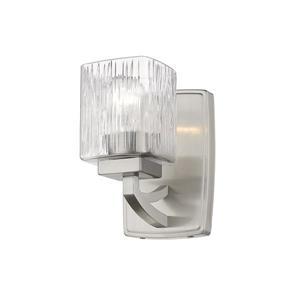 Z-Lite Zaid 1-Light Wall Sconce - 8.25-in - Steel - Nickel